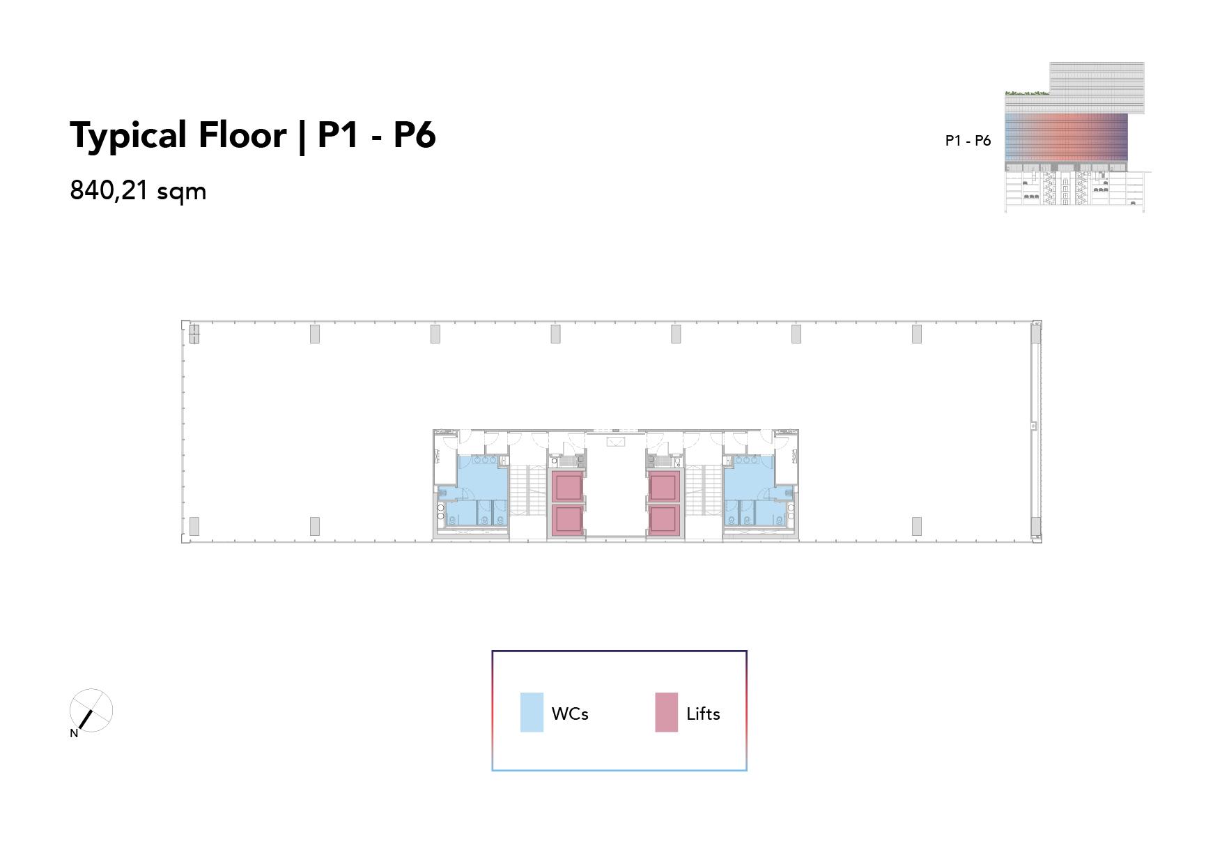 Typical Floor | P1 - P6
