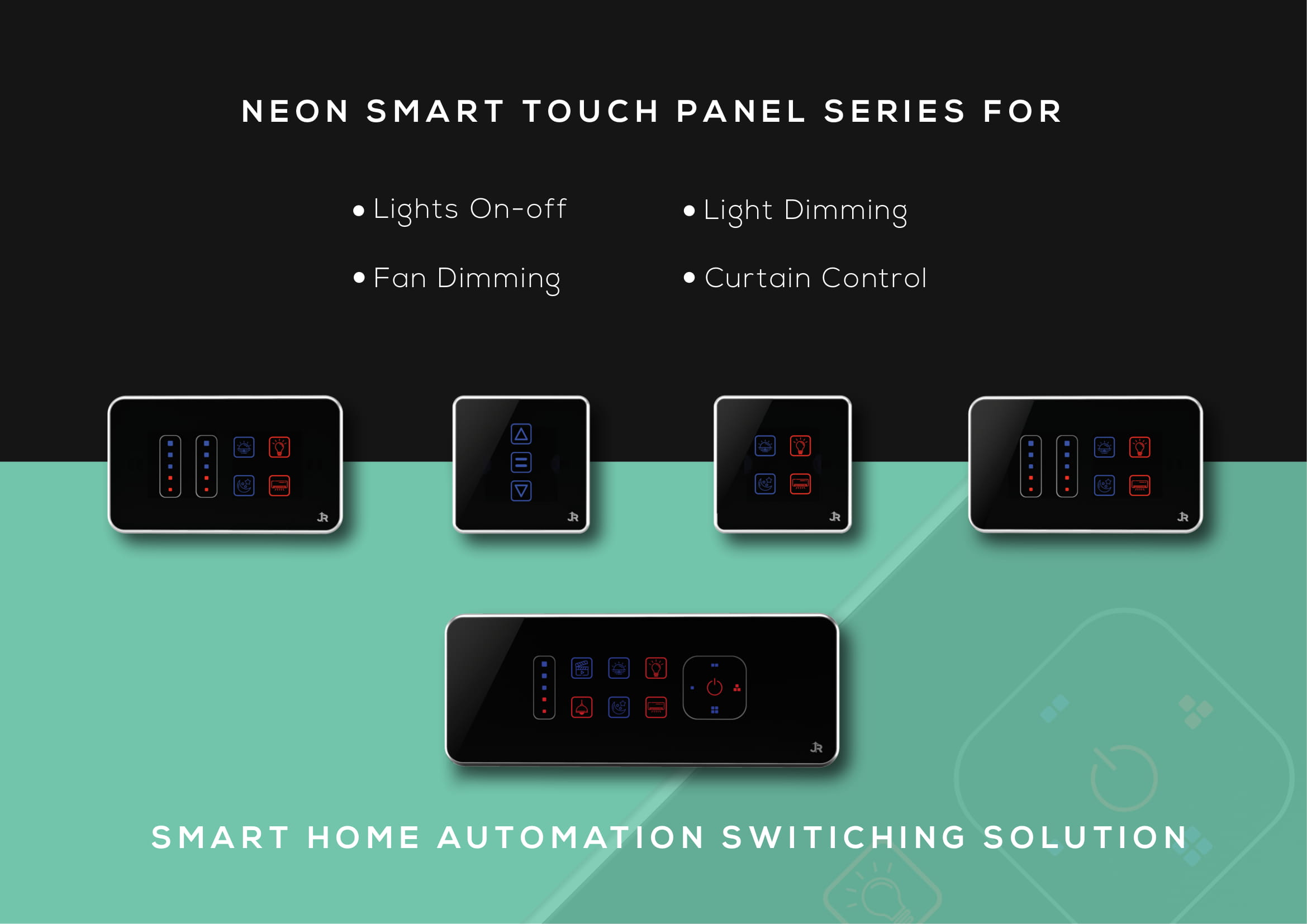 Which controller is compatible with Z-wave based neon series smart touch panels?