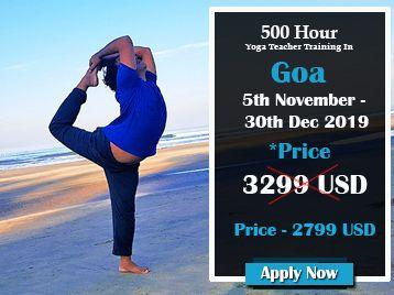 500 hour Yoga Teacher Training in Goa