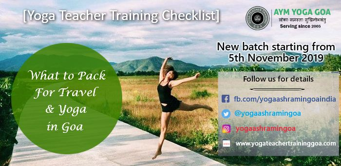 WHAT TO PACK FOR TRAVEL AND YOGA IN GOA