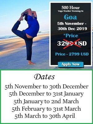 500 hours Goa