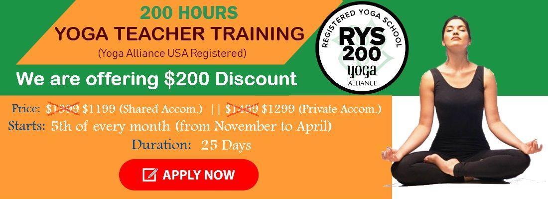 200 hours YTTC Offer