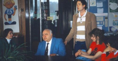 Roberts introducing his US tourists to Joe Adamov