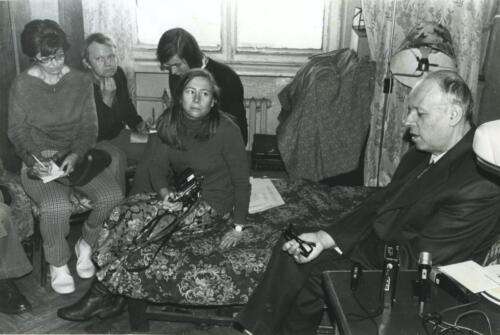 With Andrei Sakharov - Mark is behind the woman looking at Sakharov