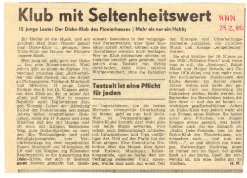 1980 Disco club Rostock