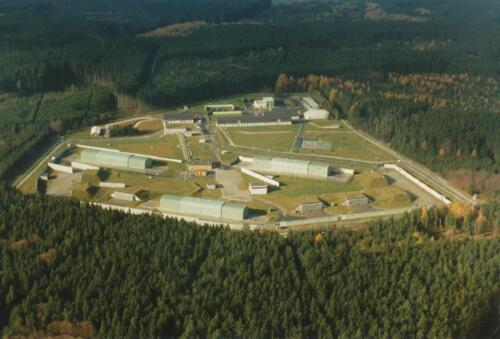 Aerial view of Scott's missile base.