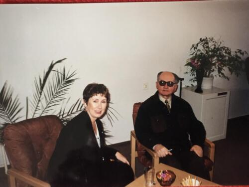 Jacqueline with Wojciech Jaruzelski.  Polish military officer, politician and de facto dictator of the People's Republic of Poland from 1981 until 1989. He was the First Secretary of the Polish United Workers' Party between 1981 and 1989, making him the last leader of the Polish People's Republic.