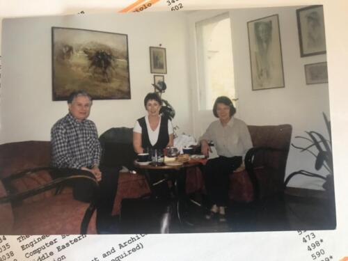 (President) Lech Kaczynski and his wife Maria in their apartment in spring 1999 – with Jacqueline.