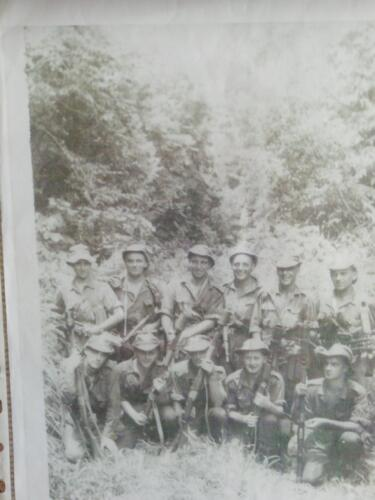 Ron in Malaya Far left, back row
