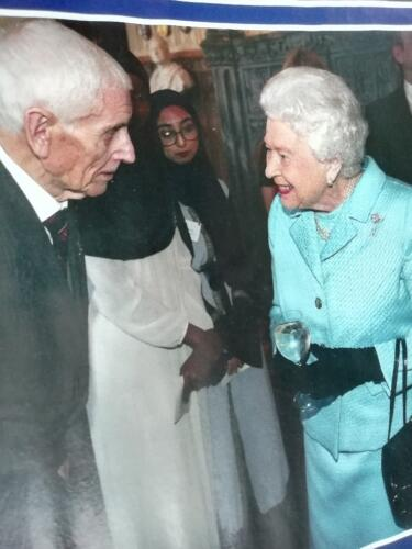 Ron with Her Majesty the Queen