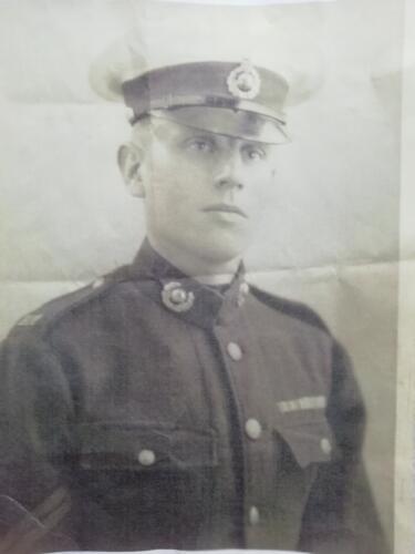 Ron in Royal Marines dress uniform