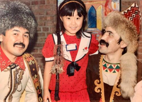 Robert's daughter with Soviet dancers in Minnesota