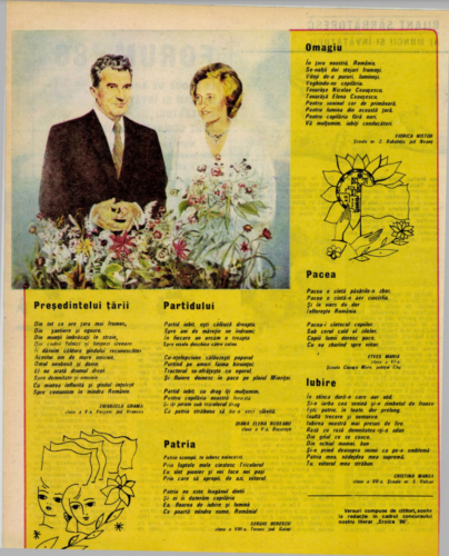"""The page where Emanuela's """"poem"""" to Nicolae Ceaușescu appeared"""