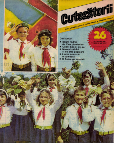 """Romanian youth magazine where Emanuela's """"poem"""" to Nicolae Ceaușescu appeared."""