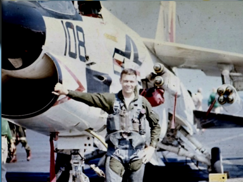 Willie Sharp with Feedbag108 which was shot down