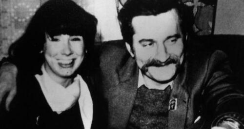 Jacqueline with Lech Walesa 1980.