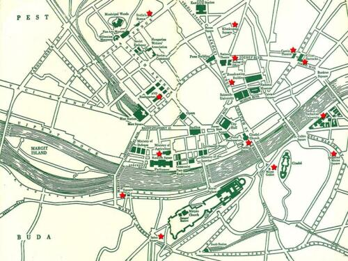 Map of Budapest 1956