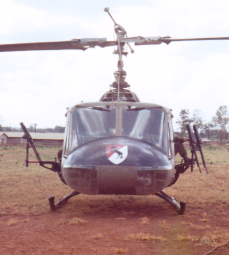 """The Thunderhorse Air Cavalry Troop was a vital part of the Regiment's success. They flew Huey """"slicks"""" to transport troops and light observation helicopters known as 'LOACH' or 'Scout Birds':"""