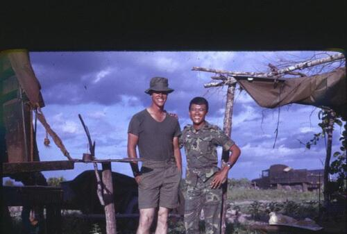 Keith's colleague Captain Shine and Major Hiep, commander of the South Vietnamese Rangers and, according to Keith, an outstanding military leader.