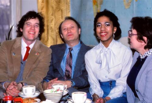 With Gennadi Gerasimov who became Gorbachev's press secretary