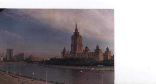 Typical Stalinist building on the River Volga in Moscow