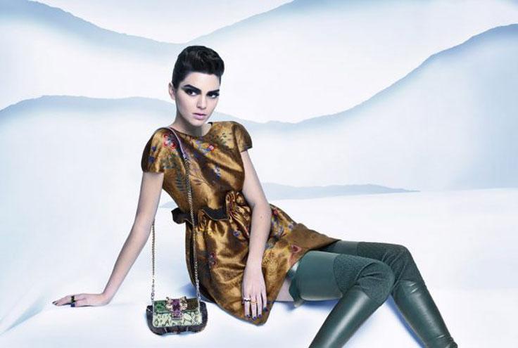 Kendall Jenner in FENDI photoshoot by Karl Lagerfeld