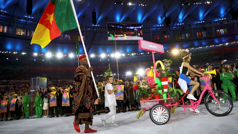 CAMEROON ATHLETES WORE TOGHU TO RIO