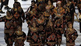 CAMEROON ATHLETES WORE THE TOGHU IN RIO GAMES