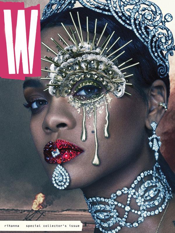 rihanna-w-magazine-cover dark queen