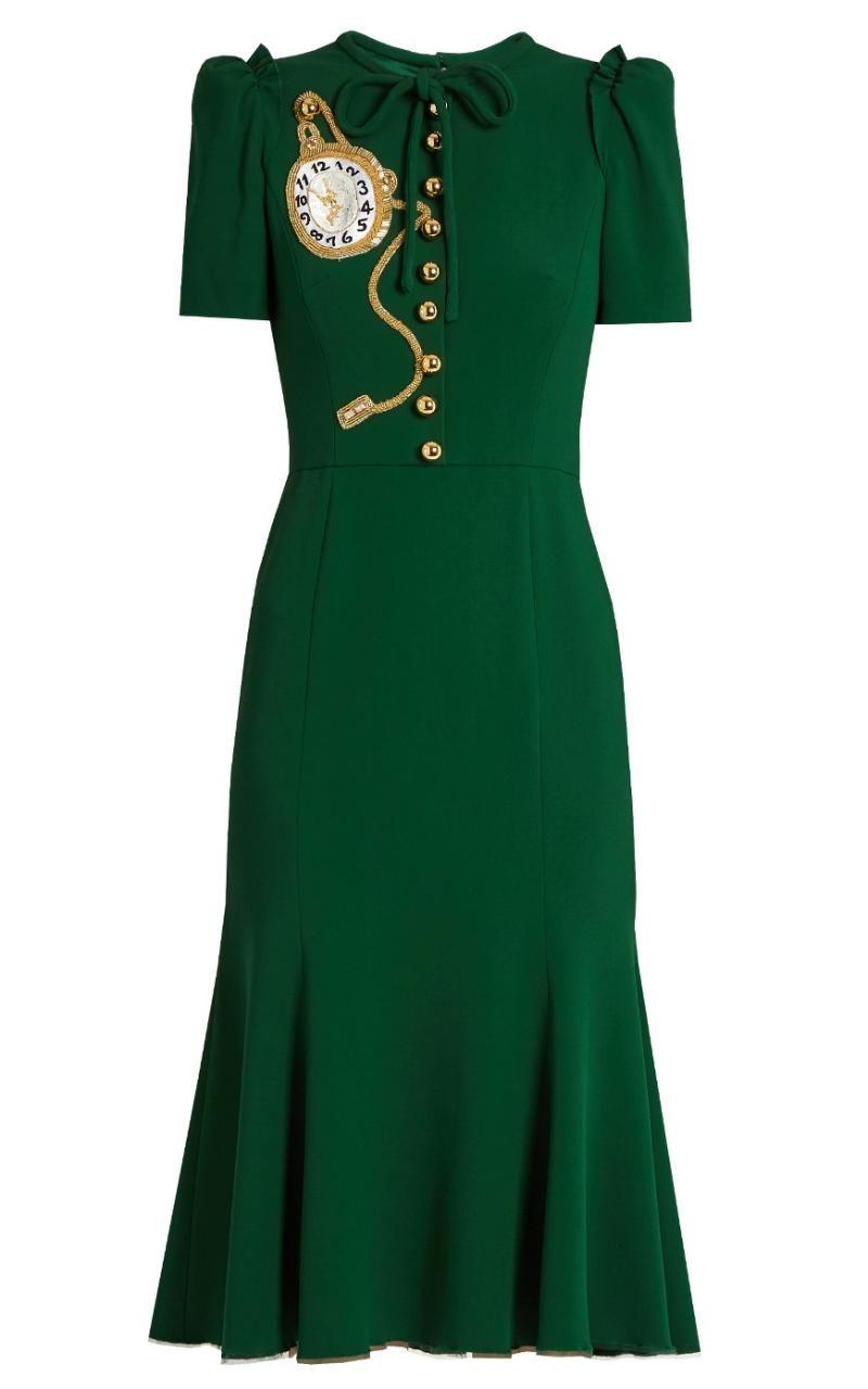 Kate Middleton In Green Dolce & Gabbana Dress