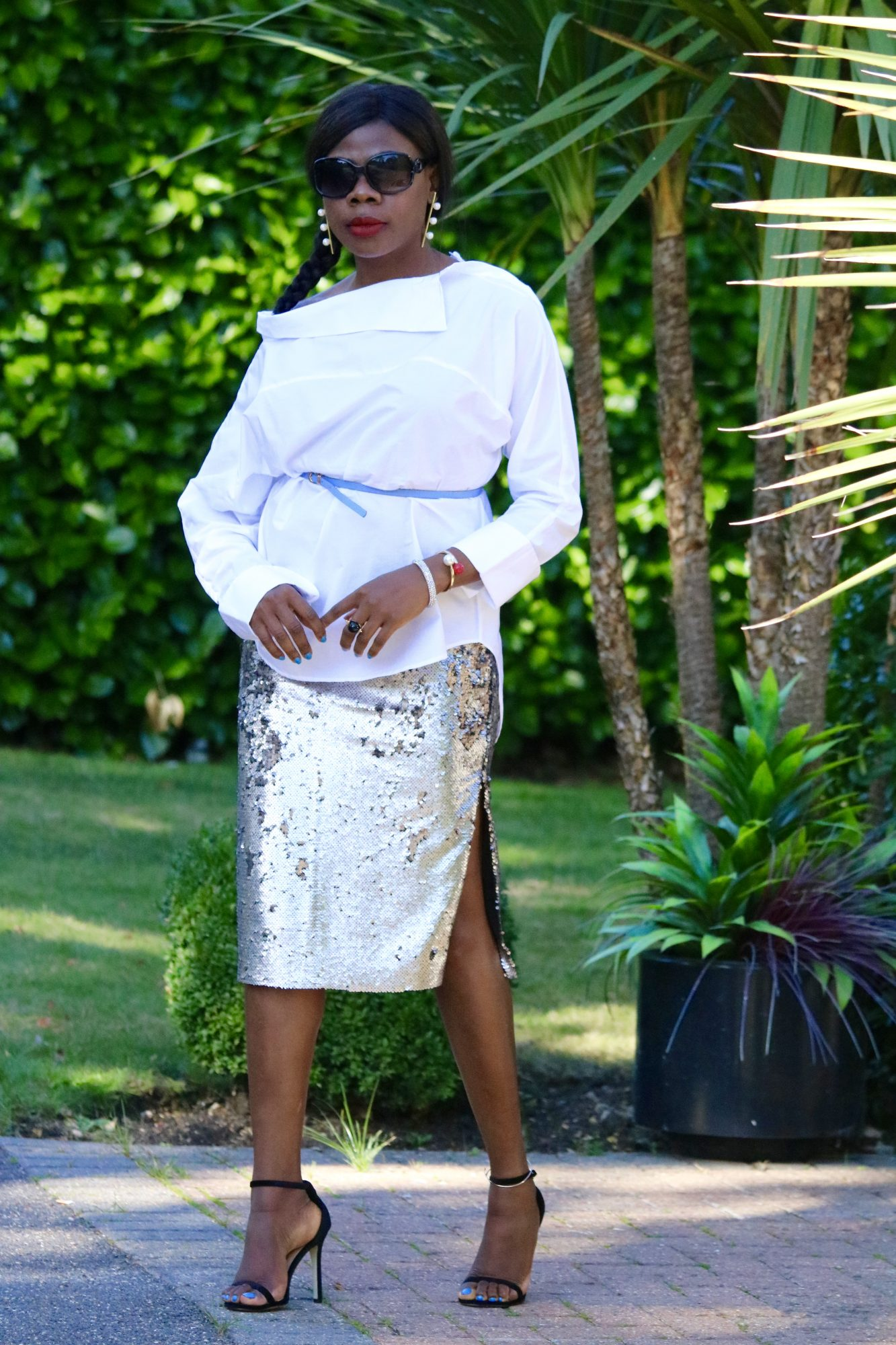 HOW TO STYLE THE CLASSIC WIDE COTTON WEAVE SHIRT BY MAMMYPI