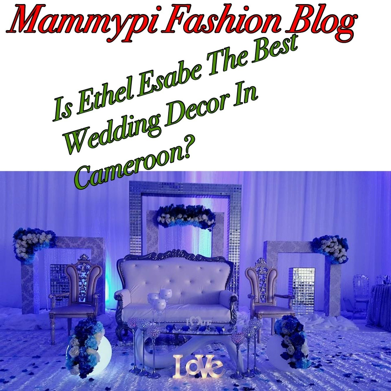 ETHEL EMADE ESABE SETS WHITE WEDDING DECÓR STANDARDS IN CAMEROON IN FULL MOTION