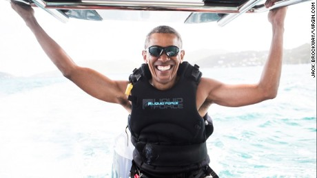 President Barack and Michelle Obama GoesTo British Virgin Islands