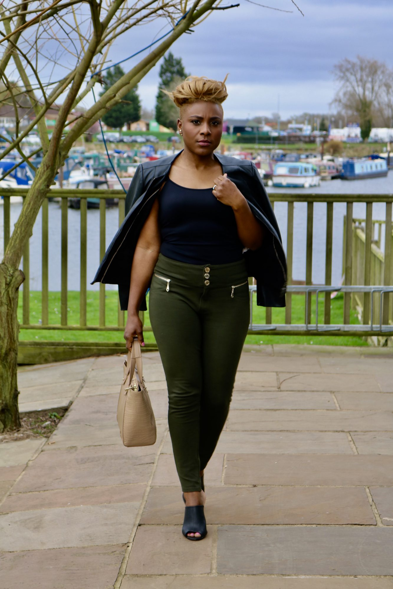 Cameroonian actress Rachel Hale hairstyles