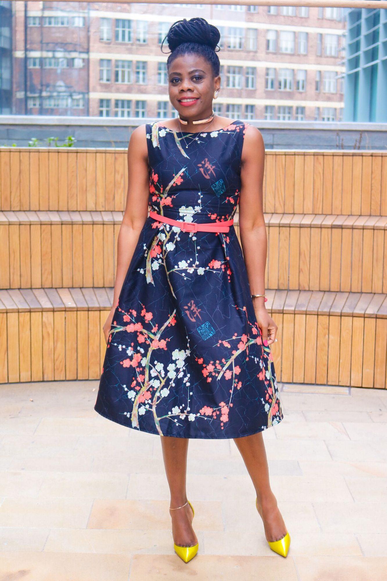 Birthday printed floral dress