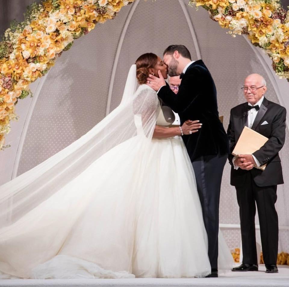 Serena William's Beautiful Alexander McQueens Wedding Dress
