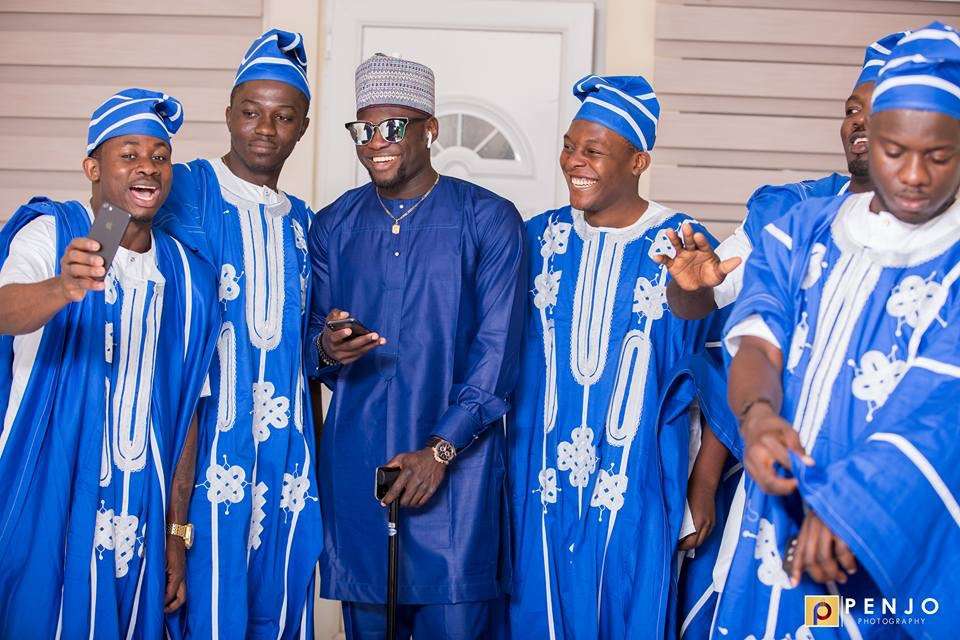 """Cameroonian Footballer Ndip Tambe Weds In Colourful """"Agbada"""" Outfit"""