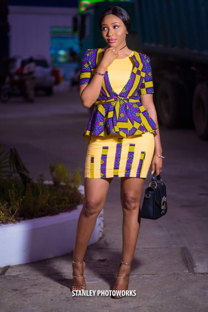#FashionBabe Syndy Emade Flaunts Her Curves In Two Piece EB Kreations