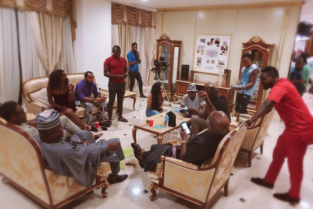 Nora Ndem Joins Ramsey Nouah, Richard Mofe, Jim Iyke, AY Comedian On Set Of Yoruba Demon