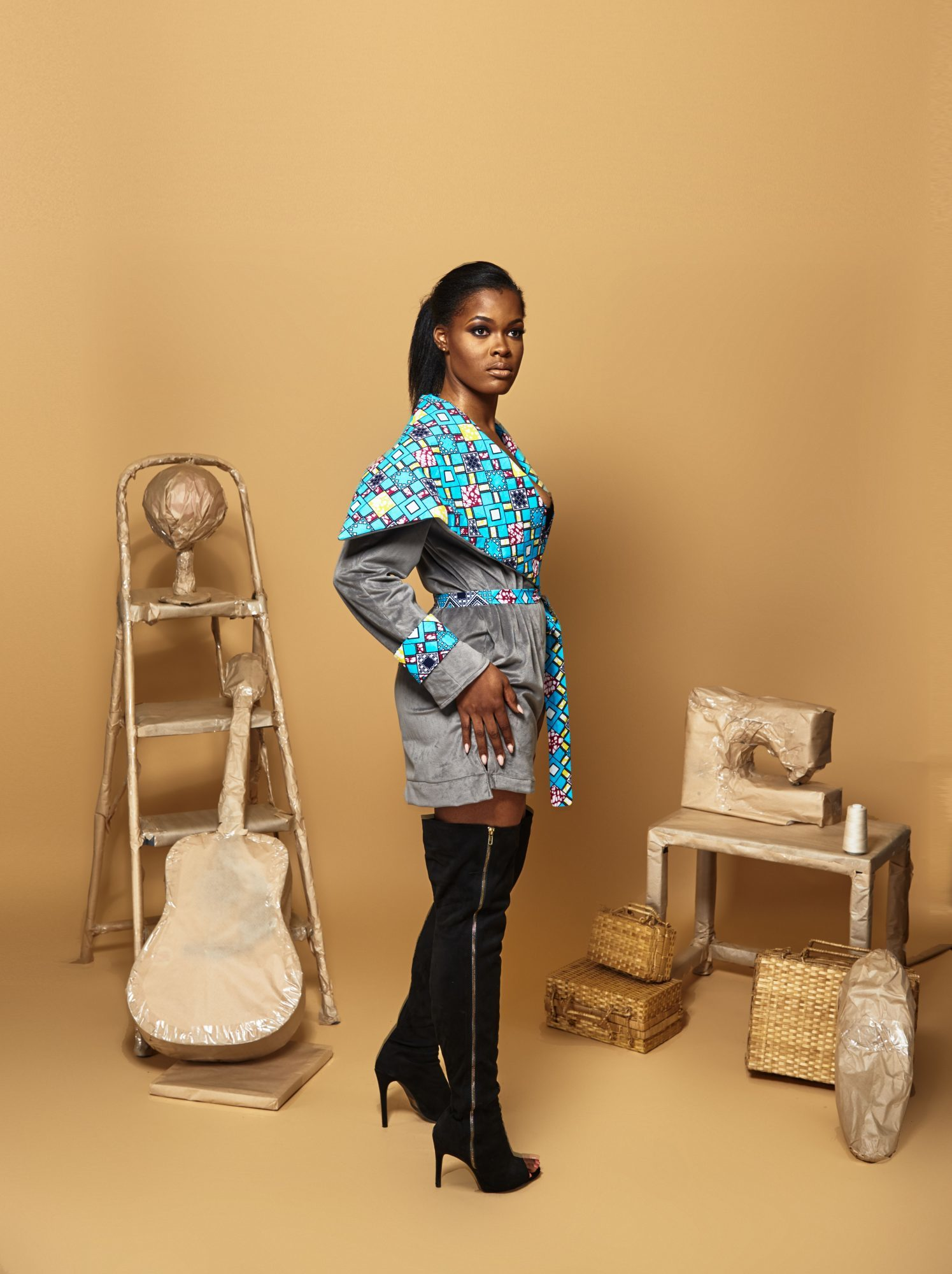 Afor Tumban debuts her personal style in Phoenix #Ankara #Cameroon #Couture #AfricanPrint