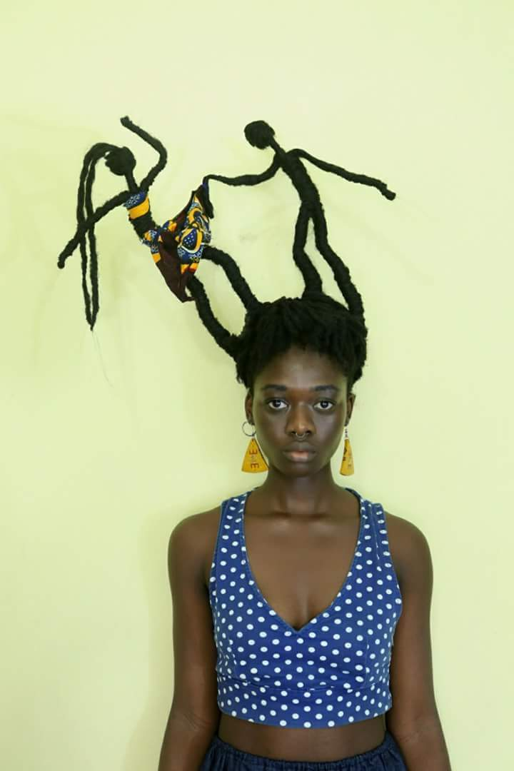 This Ivorian Artist Laetitia KY, Makes Amazing Sculptures With Her Natural Hair To Send Out Messages Against Body Shaming And To Spread Positivity