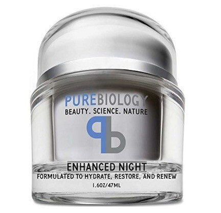 Pure Biology Anti Aging Night Cream w/ Pure Retinol, Hyaluronic Acid & Breakthrough Anti Wrinkle Technology - Moisturizer For Face & Neck (1.6 oz)