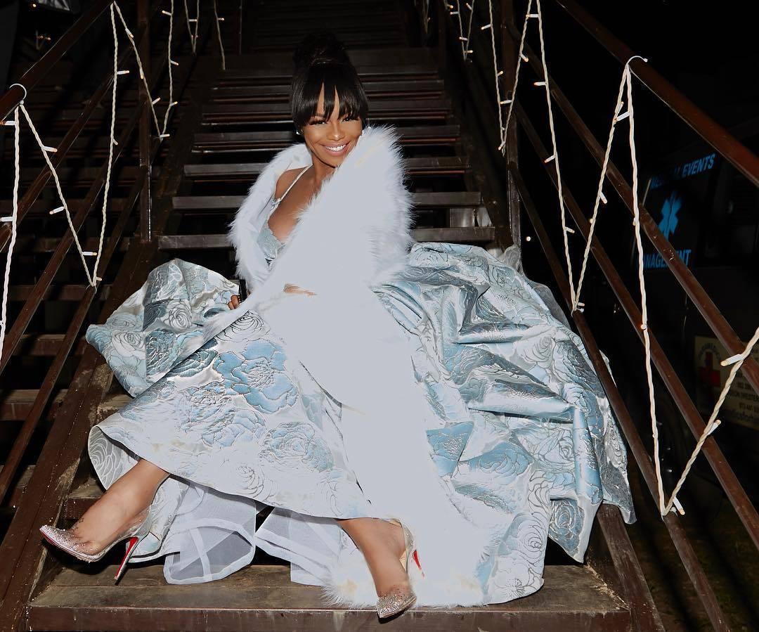 Bonang Matheba in Villioti Fashion Dress