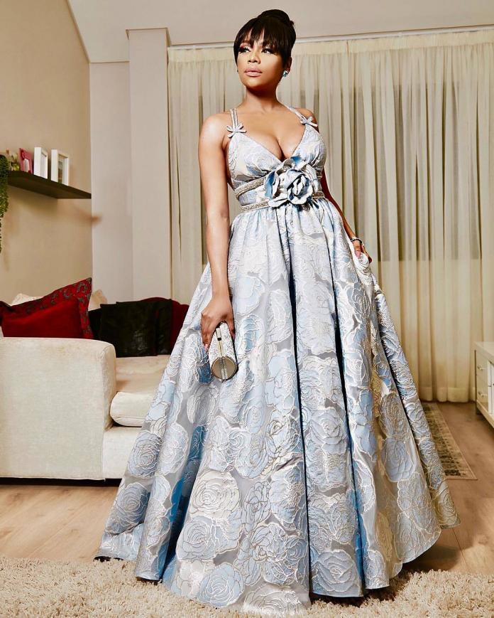 Bonang Matheba Dresses in Villioti Fashion Dress