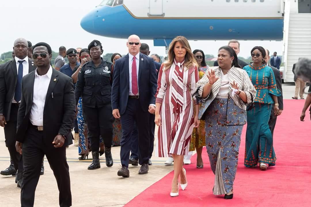 Melania Trump in Ghana