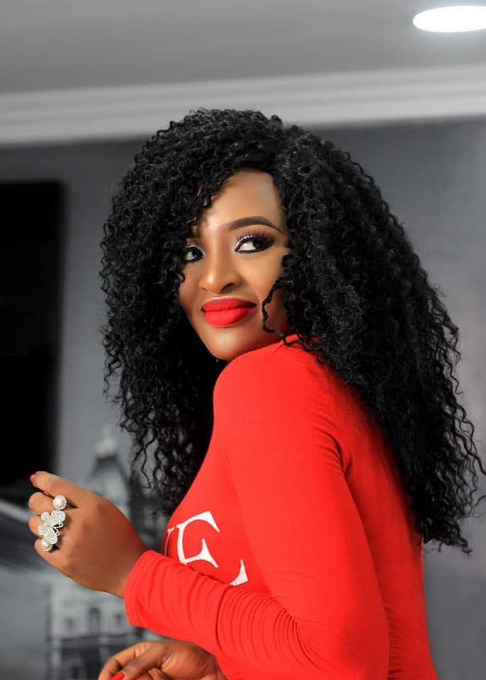 Joan Ngomba shares red, hot & totally polished pictures