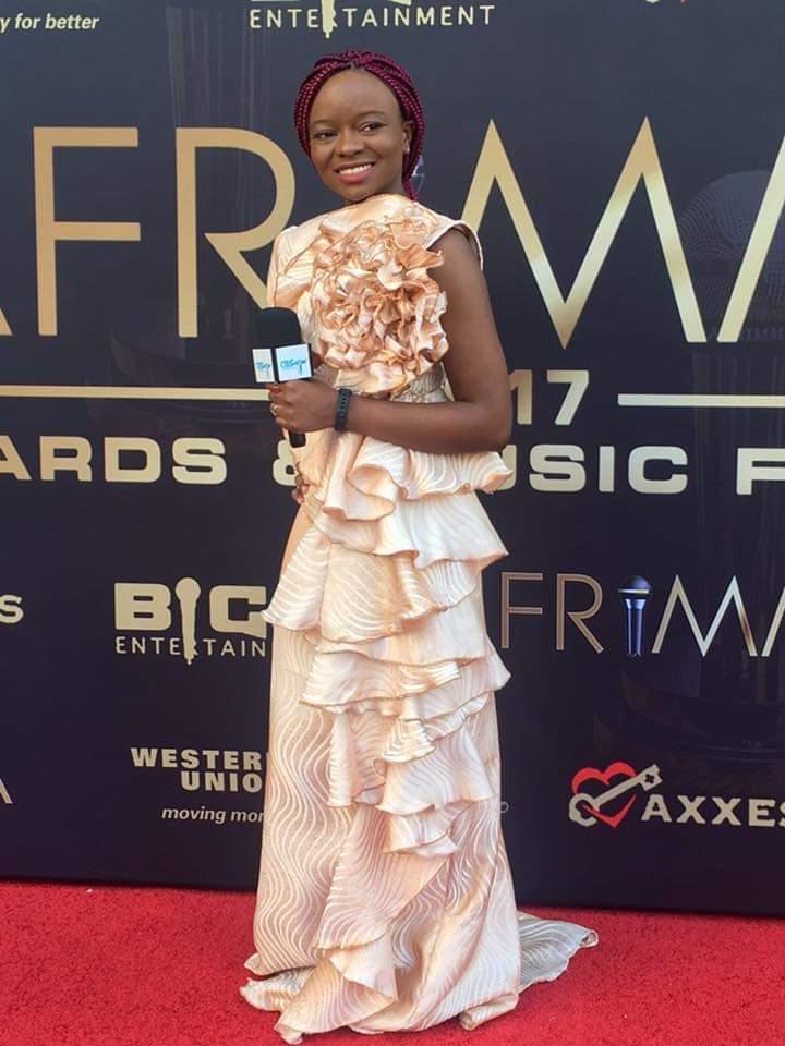 Crystal Bih AFRIMMA 2017 in SPELL Kootor dress