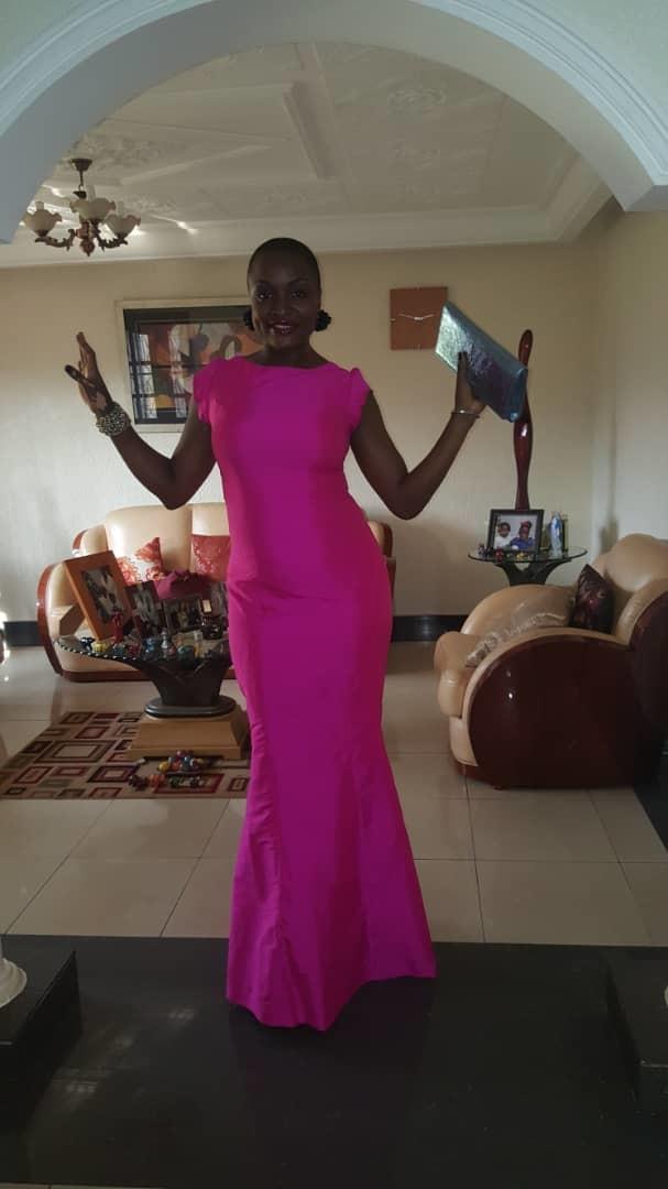 Celebrity Long Pink Dress