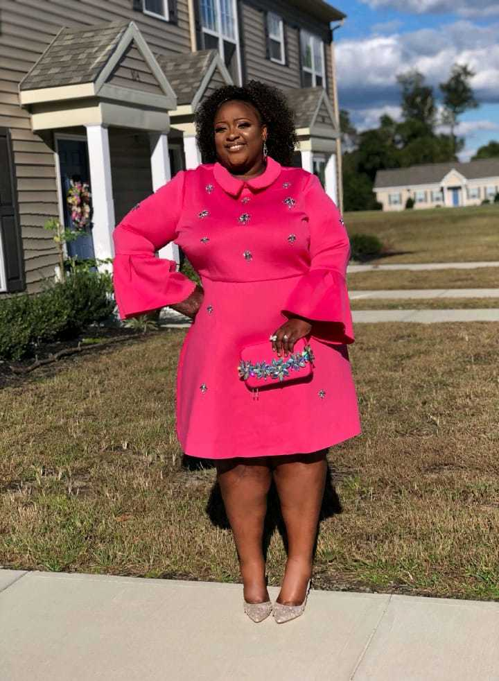 Pink outfit for breast cancer awareness