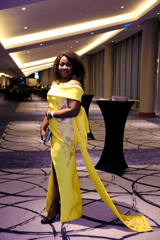 Margo's Mode Yellow Evening Dress